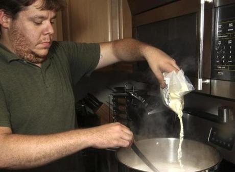 Javier Torre adds dried malt extract.
